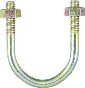 TRUSCO PC管用Uボルト クロメート 呼び径80A ねじ径W3/8【TPCU-BT80A】(管工機材・配管支持金具)