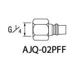 アネスト岩田 クイックジョイント(プラグ)【AJQ-02PFF】(塗装・内装用品・自動スプレーガン)