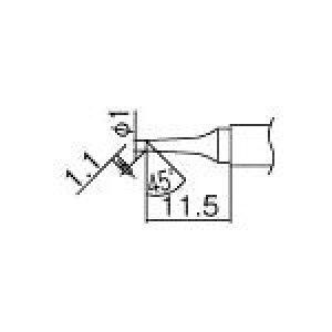 白光 こて先 1BC型【T12-BC1】(はんだ・静電気対策用品・ステーション型はんだこて)
