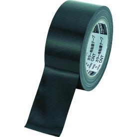 TRUSCO トラスコ カラー布粘着テープ 幅50mm長さ25m ブラック CNT5025BK