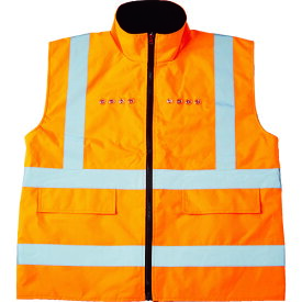 TRUSCO トラスコ フリース付安全ベスト LED付 オレンジ TFABLO