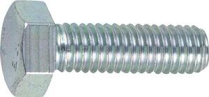 TRUSCO 六角ボルト三価 白 サイズM6X65 10本入【B722-0665】(ねじ・ボルト・ナット・六角ボルト)