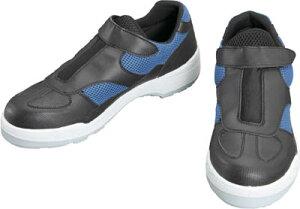 シモン プロスニーカー 短靴 8818黒/ブルー 25.0cm【8818B/BK-25.0】(安全靴・作業靴・プロテクティブスニーカー)