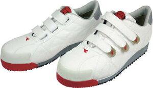 ディアドラ DIADORA 安全作業靴 アイビス 白 24.5cm【IB11-245】(安全靴・作業靴・プロテクティブスニーカー)