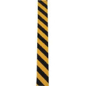 日東エルマテ NEWトラクッション 黄/黒 5mm×100mm×1m【TR100-1】(安全用品・標識・安全クッション)