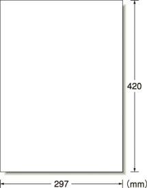 A−one 屋外用サインラベル(レーザー)ツヤ消しフィルム・ホワイト A3判【31033】(安全用品・標識・安全標識)