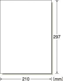 A−one 屋外用サインラベル(レーザープリンタ)光沢フィルム・ホワイト【31034】(安全用品・標識・安全標識)