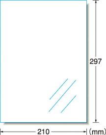 A−one 屋外用サインラベル(レーザープリンタ)光沢フィルム・透明【31032】(安全用品・標識・安全標識)
