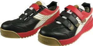 ディアドラ DIADORA 安全作業靴 ロビン 黒/白/赤 27.5cm【RB213-275】(安全靴・作業靴・プロテクティブスニーカー)