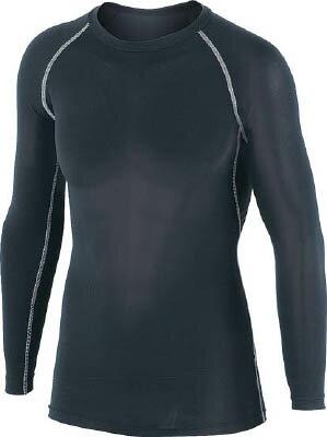 おたふく 冷感 消臭 パワーストレッチ長袖クルーネックシャツ ブラック LL【JW-623-BK-LL】(冷暖対策用品・暑さ対策用品)