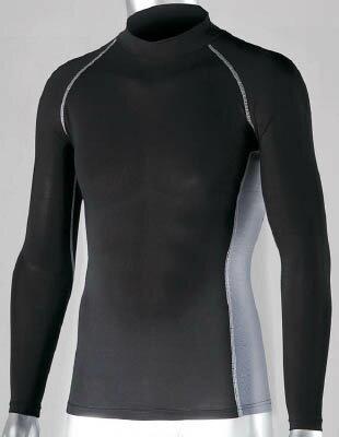 おたふく 冷感 消臭 パワーストレッチ長袖ハイネックシャツ ブラック LL【JW-625-BK-LL】(冷暖対策用品・暑さ対策用品)
