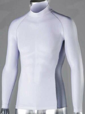 おたふく 冷感 消臭 パワーストレッチ長袖ハイネックシャツ ホワイト M【JW-625-WH-M】(冷暖対策用品・暑さ対策用品)