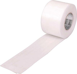 TRUSCO 養生用発泡テープ 100mm×8m ホワイト【TPF-1008】(テープ用品・養生テープ)
