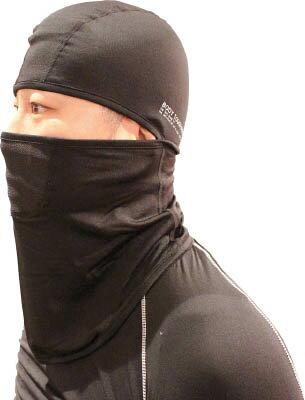 おたふく 冷感・消臭 パワーストレッチフルフェイスマスク ブラック【JW-614-BK】(冷暖対策用品・暑さ対策用品)