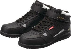 シモン 安全スニーカー 編上靴 紐 NS322ブラック 27.0cm【NS322B-27.0】(安全靴・作業靴・プロテクティブスニーカー)