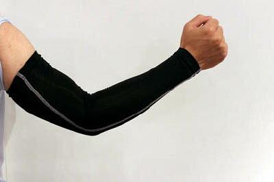 おたふく 冷感 パワーストレッチアームカバー ブラック【JW-618-BK】(冷暖対策用品・暑さ対策用品)