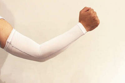 おたふく 冷感 パワーストレッチアームカバー ホワイト【JW-618-WH】(冷暖対策用品・暑さ対策用品)