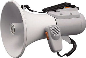 TOA 中型ショルダー型メガホン ホイッスル音付き【ER-2115W】(安全用品・標識・拡声器)