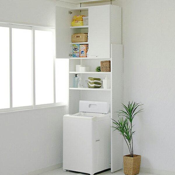 【日本製】ランドリーラック 天井突っ張り式の洗濯機ラック サニタリーラック ランドリー収納 つっぱり洗濯機ラック80型 (代引不可)【送料無料】【ポイント10倍】