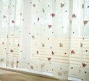 【日本製】 可愛いバラ柄のレースカーテン 幅100×丈176cm [2枚組](代引不可)【送料無料】