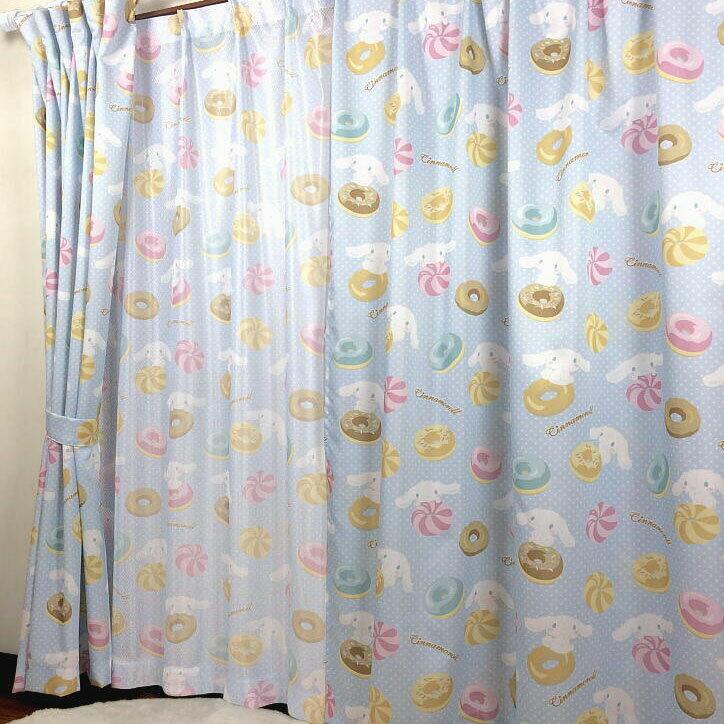 Sanrio サンリオ キャラクター シナモンロール カーテン 子供部屋 カーテン ミラーレースカーテン4枚セット 100×185cm(4枚組)(代引不可)【送料無料】