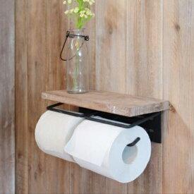 木製 トイレットペーパーホルダー ダブル 【JOKER】(ジョーカー)トイレットペーパーホルダー2連【ポイント20倍】