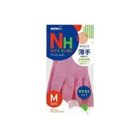 (業務用300セット) ショーワ ナイスハンドミュー薄手 Mサイズ ピンク ×300セット