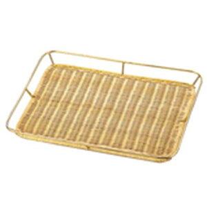 よし与工房 籐製メタリック ワクつきすのこ浅型 (ゴールドメッキ)PF-68G WSN04