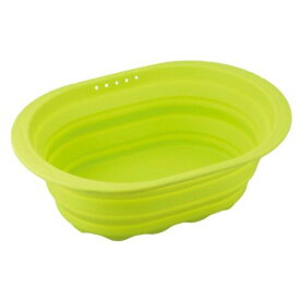 和平フレイズ スキッとシリコーン 小判型洗い桶 グリーン SR-4882