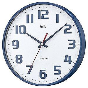 ノア精密 チュロス ネイビーブルー felio 掛時計 FEW182 NB-Z