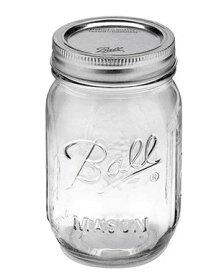 正規品 メイソンジャー Ball Mason jar 16oz レギュラーマウス オリジナル クリア mason1 単品 約480ml