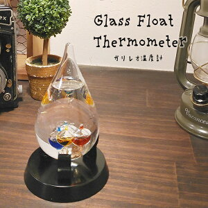 ガリレオ温度計 しずく型 GAW11002S サイエンス ガリレオ ガラスフロート温度計 インテリア おしゃれ 科学 温度計 かわいい【送料無料】