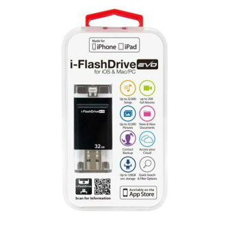 Photofast i-FlashDrive EVO for iOS&Mac/PC Apple公司认定LightningUSB存储器32GB IFDEVO32GB