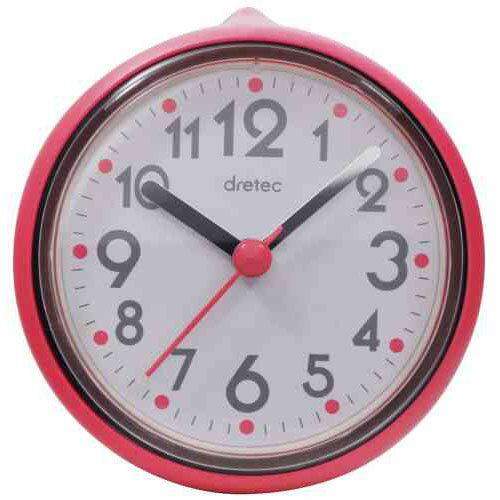 DRETEC おふろクロック スパタイム かわいいフォルムの防滴時計 C-110PK2