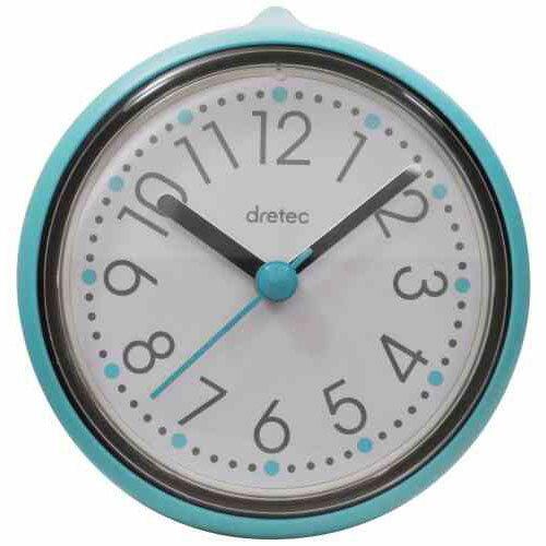 DRETEC おふろクロック スパタイム かわいいフォルムの防滴時計 C-110BL