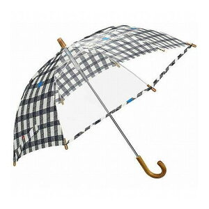 mikuni ミクニ 長傘 Kids Umbrella ギンガム ブラック 45cm GG-04975 傘 雨傘 梅雨 雨 カサ おしゃれ(代引不可)