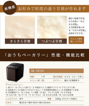 ホームベーカリー餅シロカSIROCASHB-612米粉うどんパスタケーキヨーグルト【送料無料】【smtb-F】【あす楽対応】【RCP】