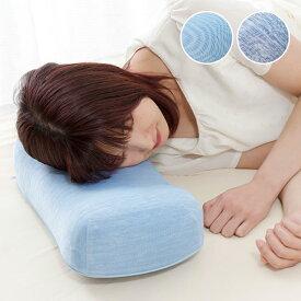接触冷感 枕 22×44cm カバー付 低反発 冷 冷感 冷却 ウェーブ型 洗えるカバー ブルー ひんやり 涼しい クール 夏 睡眠 まくら ごろ寝枕 寝具 EXCELCOOL 送料無料