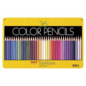 トンボ鉛筆 缶入色鉛筆 36色 NQ 1 個 CB-NQ36C 文房具 オフィス 用品