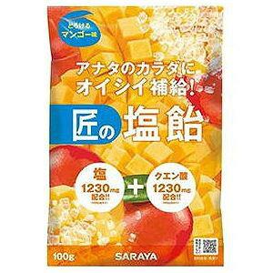 サラヤ 匠の塩飴 マンゴー味 100g 食品