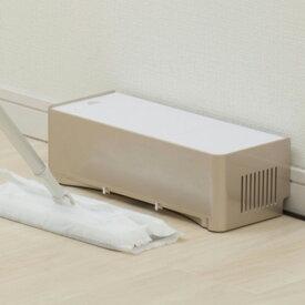 電気ちりとり ZN-DP24-WH 電動ちり取り フロアワイパー用掃除機 吸引 コンパクト 吸い取り 紙パック式 床掃除【送料無料】