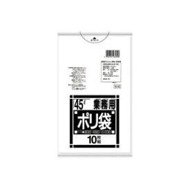 (まとめ買い)日本サニパック ポリゴミ袋 N-43 透明 45L 10枚 【×20セット】