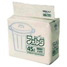 (まとめ買い)日本サニパック フォルタ・環優包装F-4H 半透明 45L 100枚 【×3セット】