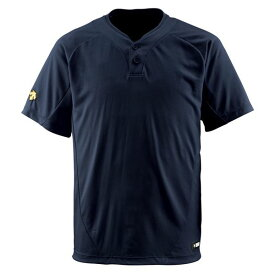 デサント(DESCENTE) ベースボールシャツ(2ボタン) (野球) DB201 ブラック L