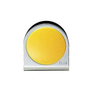 (まとめ買い)プラス カラーマグネット クリップ 大 黄 【×10セット】