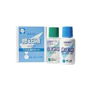 (まとめ買い)カズキ 修正液ミスノン NO.600 うすめ液付 【×10セット】