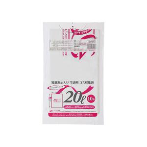 (まとめ)容量表示入りゴミ袋 ピンクリボンモデル 20L 10枚入×60パック