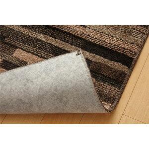 ラグカーペット3畳抗菌防臭防ダニタフト国産『マットーネ』ブラウン約190×240cm