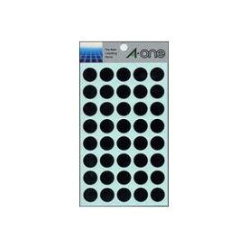 (業務用セット) エーワン カラーラベル 丸型15mm径 07029 黒 1P14シート(560片)入 【×10セット】