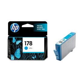 (まとめ) HP178 インクカートリッジ シアン CB318HJ 1個 【×4セット】